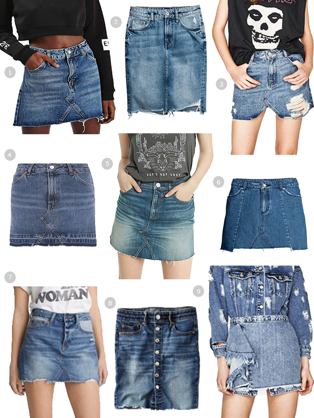 Trend Report: Cut-off Denim Skirts · relmstyle